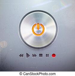 ボタン, ラウンド, 力