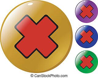 ボタン, 交差点, 赤