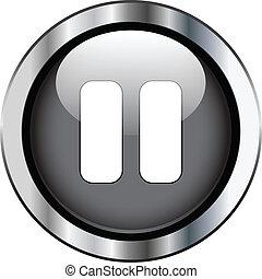 ボタン, 休止, 黒