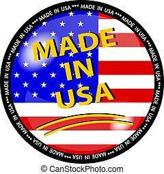 ボタン, 作られた, アメリカ