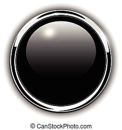 ボタン, 光沢がある, 金属
