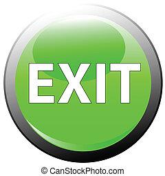ボタン, 出口