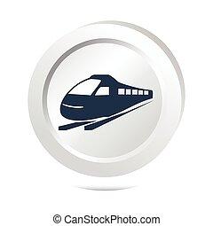 ボタン, 列車, 印, アイコン