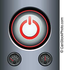 ボタン, 力, 背景