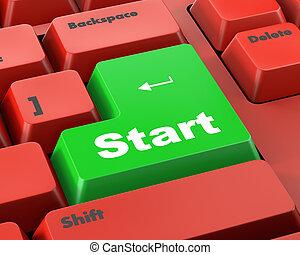 ボタン, 始めなさい