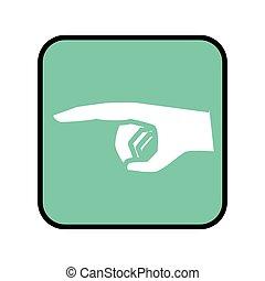 ボタン, 広場, とんびが指さす, 手