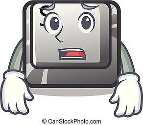 ボタン, 恐れている, コンピュータ, s, 漫画