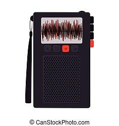 ボタン, 技術, レコーダー, ラジオ