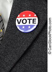 ボタン, 投票