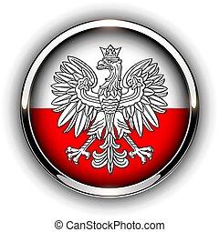 ボタン, 旗, ポーランド