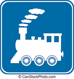 ボタン, 機関車