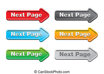 ボタン, 次に, ページ, セット