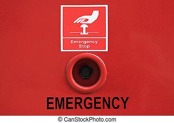 ボタン, 止まれ, 緊急事態