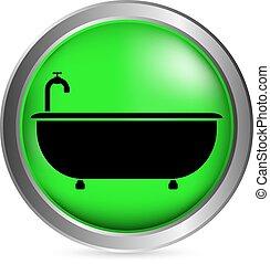 ボタン, 浴槽