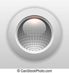 ボタン, 灰色, 3d