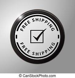 ボタン, 無料で, 出荷
