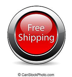 ボタン, 無料で, 出荷, 赤