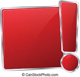 ボタン, 現代, 印, ベクトル, 赤, アイコン
