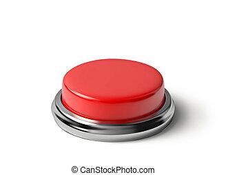 ボタン, 白い赤, 隔離された
