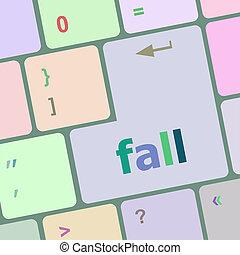 ボタン, 秋, pc コンピュータ, キー, キーボード
