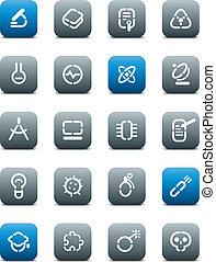 ボタン, 科学, マット, 型板