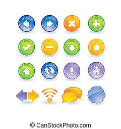 ボタン, 網のインターネット