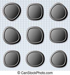 ボタン, 網, ラウンド