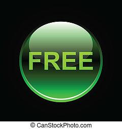 ボタン, 緑, グロッシー, 無料で
