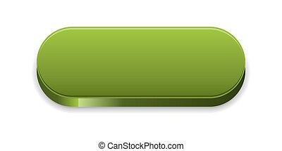 ボタン, 緑, グロッシー