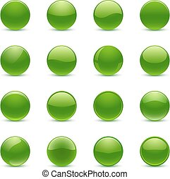 ボタン, 緑, ラウンド