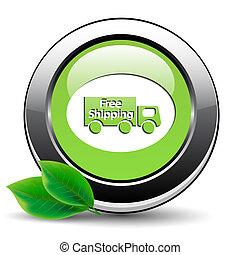 ボタン, 緑, 無料で, 出荷