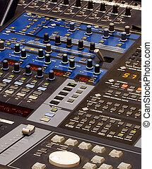 ボタン, 装置, 専門家, たくさん, 混合