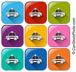 ボタン, 警察, 自動車