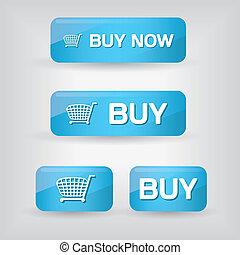 ボタン, 買い物