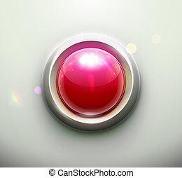 ボタン, 赤