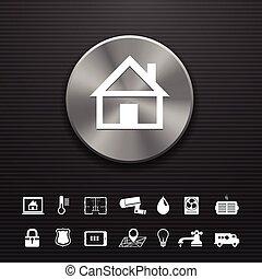 ボタン, 金属, オートメーション, 家, 技術, 痛みなさい