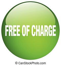 ボタン, 隔離された, 無料で, 充満, 緑, 押し, ラウンド, ゲル