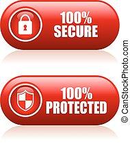 ボタン, 100, 安全である