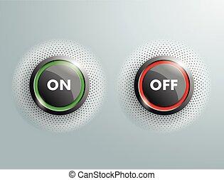 ボタン, 2, 離れて, ビジネス, halftone