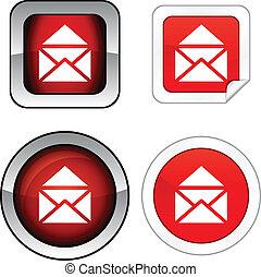 ボタン, set., 電子メール