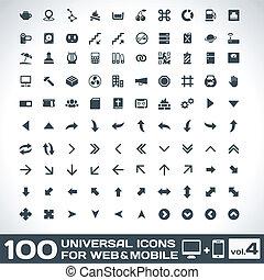 ボリューム, 100, 4, 普遍的, アイコン