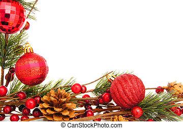 ボーダー, クリスマス安っぽい飾り