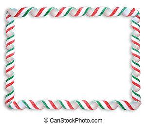 ボーダー, クリスマス, キャンデー