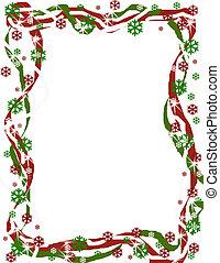 ボーダー, クリスマス, リボン