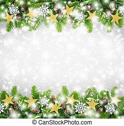 ボーダー, クリスマス, 背景