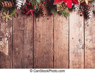 ボーダー, デザイン, クリスマス
