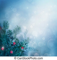 ボーダー, 冬, 背景, 自然