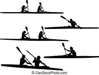ボート競技, ベクトル, -