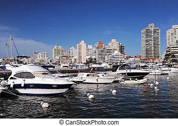 ボート, そして, ヨット, 中に, ∥, 湾