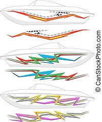 ボート, グラフィックス, ストライプ, :, ビニール, 準備ができた